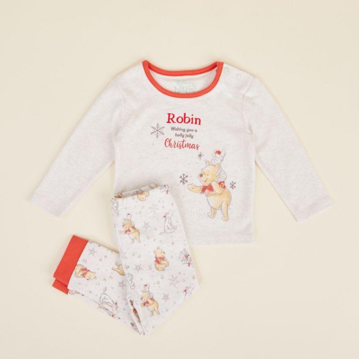 Personalised Winnie The Pooh Christmas Pyjamas