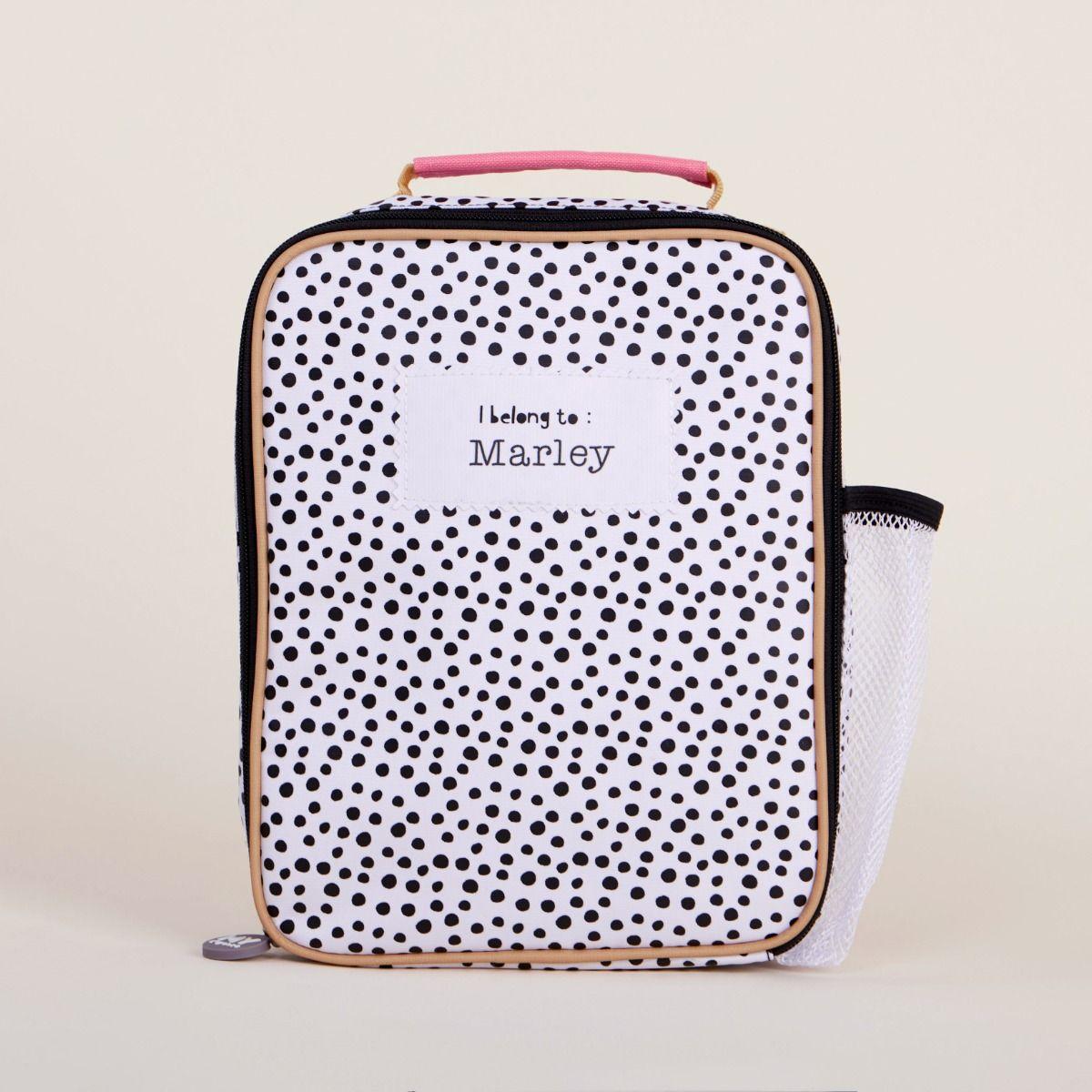 Personalised Polka Dot Lunch Bag