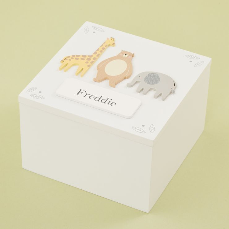 Personalised Animal Friends Keepsake Box