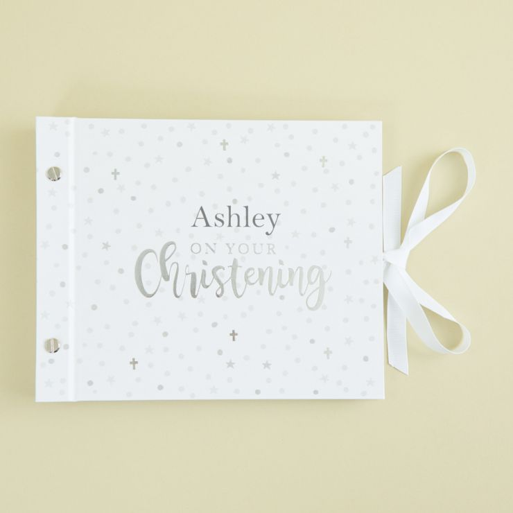 Personalized White Christening Picture Album