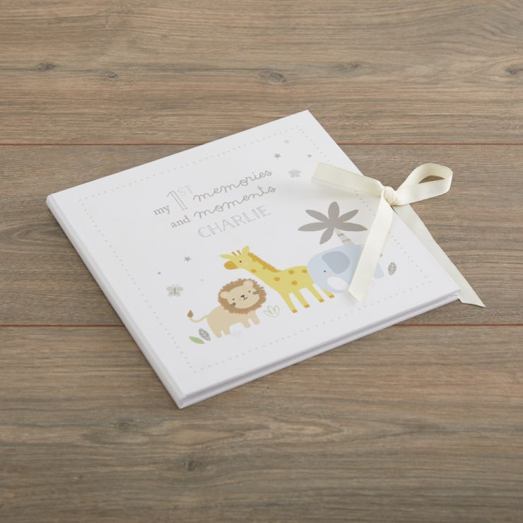 Personalised Jungle Baby Record Book