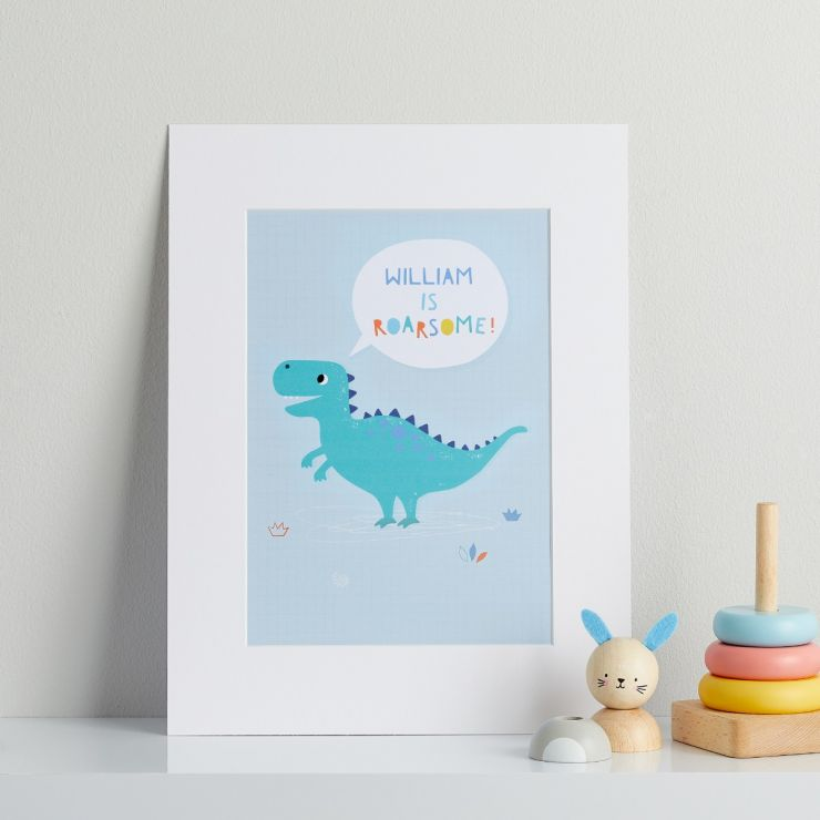 Personalised Dinosaur 'Roarsome' Children's Room Print