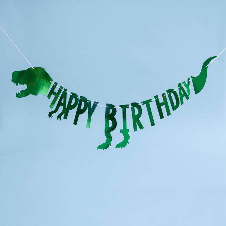 Ginger Ray Happy Birthday Party Dinosaur Bunting