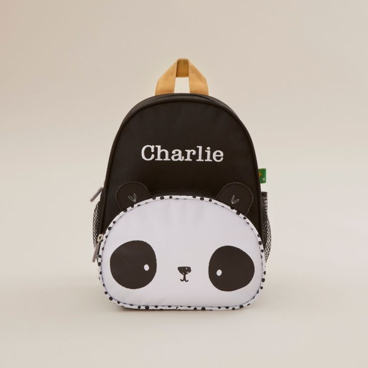 Personalised Panda Design Mini Backpack