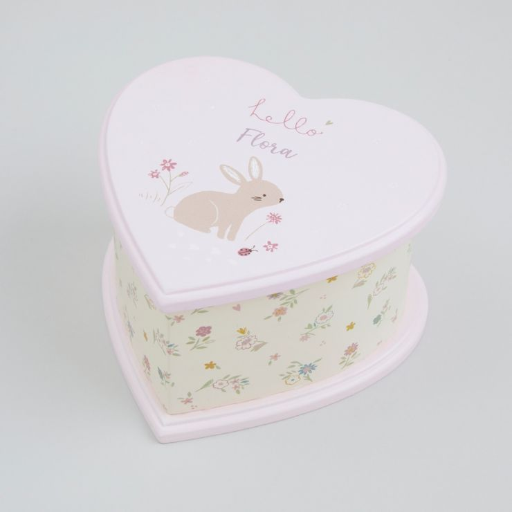 Personalised Heart Design Music Box