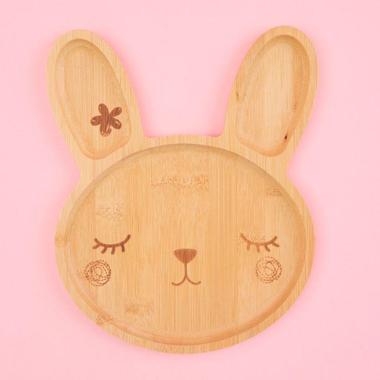 Bunny Bamboo Plate