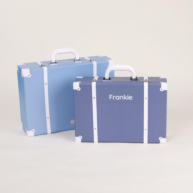 Personalised Blue Large Storage Trunk Set