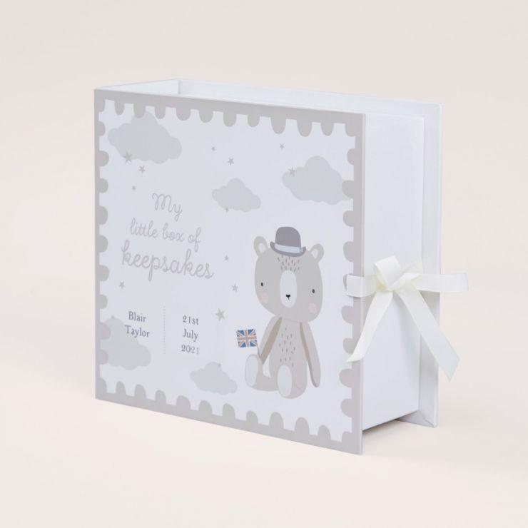 Personalised Little London Baby Keepsake Drawers