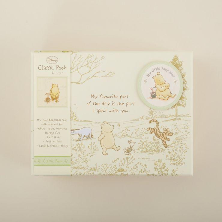 Personalized Classic Winnie The Pooh Baby Keepsake Box
