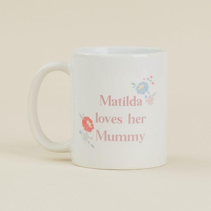 Personalised Floral Mother's Day Design Mug