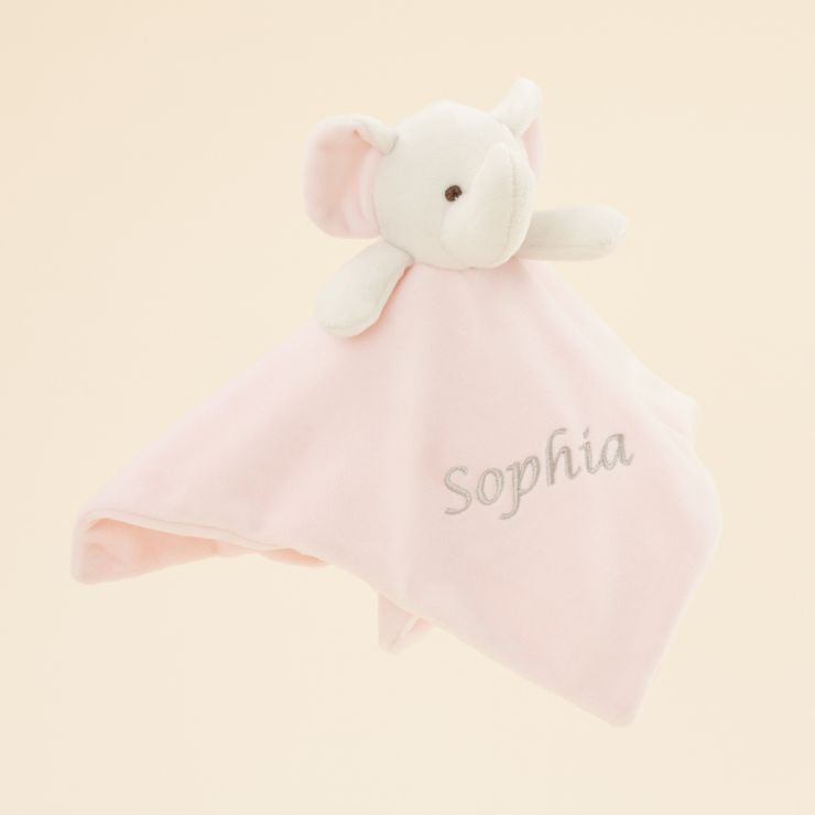 Personalised Pink Elephant Comforter