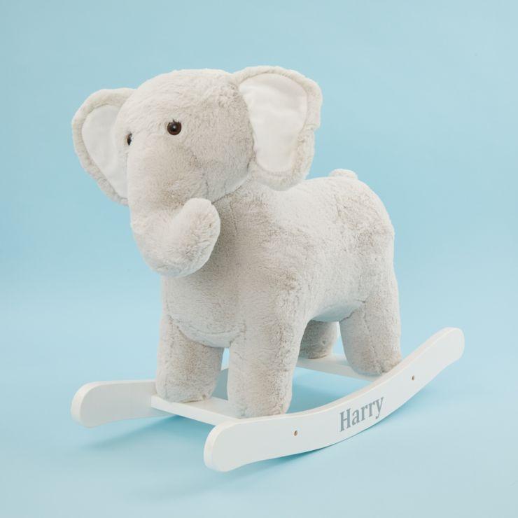 Personalised Grey Elephant Rocker Toy