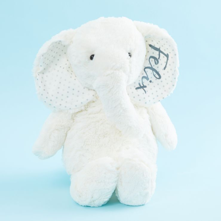 Personalized Large White Elephant Stuffed Animal