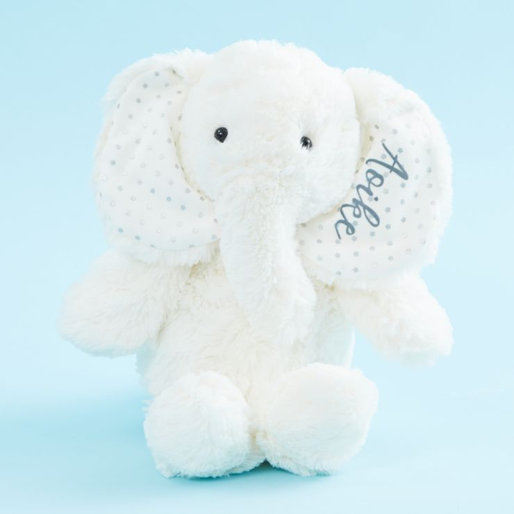 Personalized White Elephant Stuffed Animal