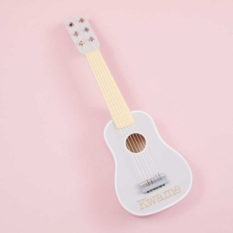 Personalized Gray Toy Guitar