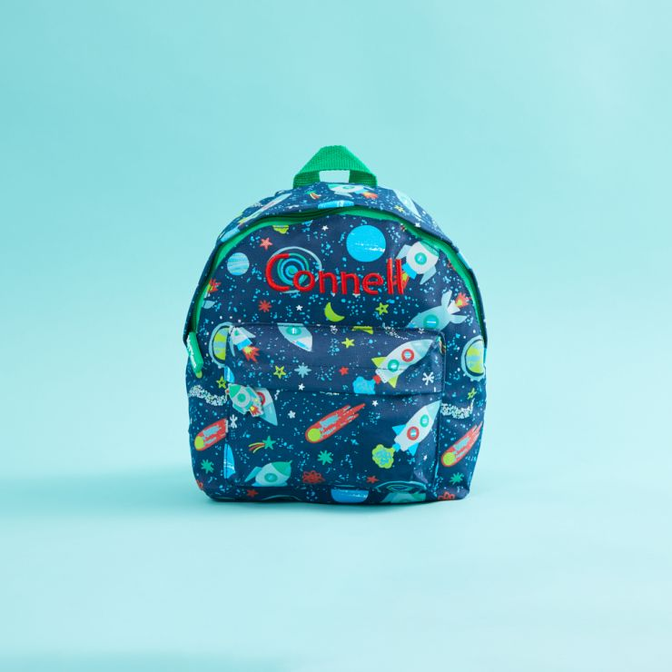 Personalised Space Print Mini Backpack