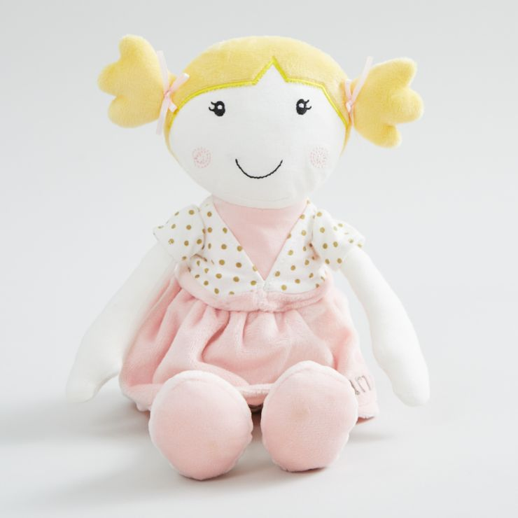 Personalised Doll in Pink Dress