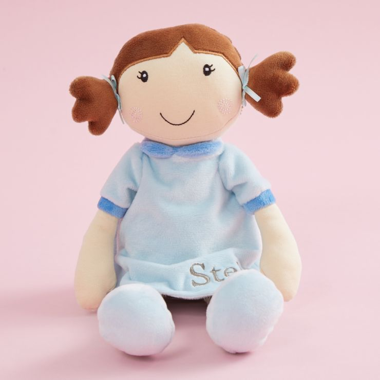 Personalised Doll in Blue Dress