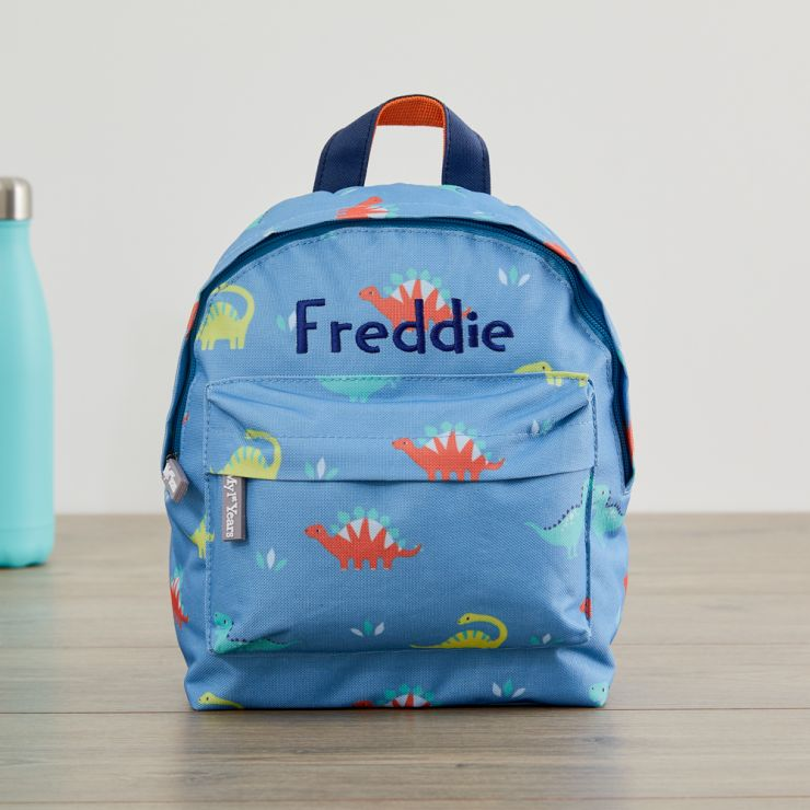 Personalized Colorful Dinosaur Mini Backpack