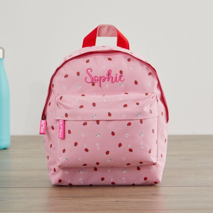 Personalized Ladybird Print Mini Backpack