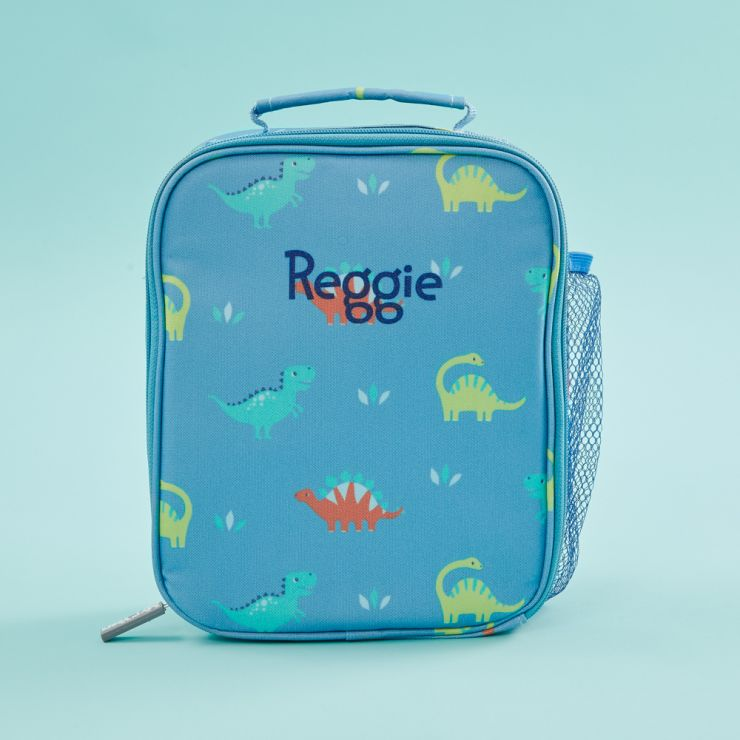 Personalized Dinosaur Print Lunch Bag