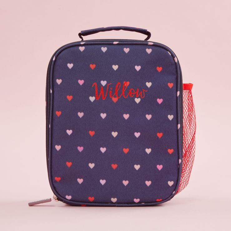 Personalized Heart Print Lunch Bag