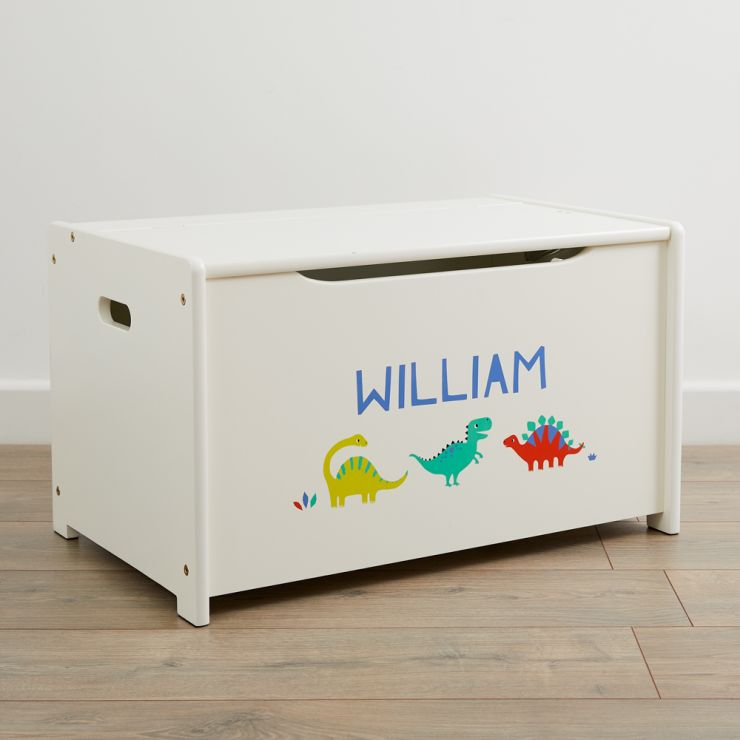 Personalised Dinosaur Design Toy Box