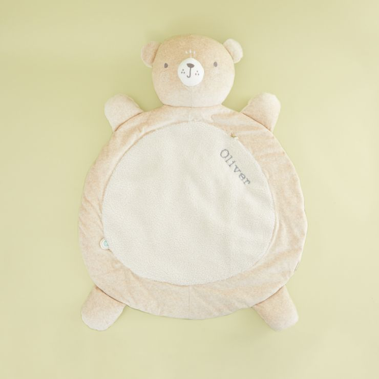 Personalized Cream Bear Playmat