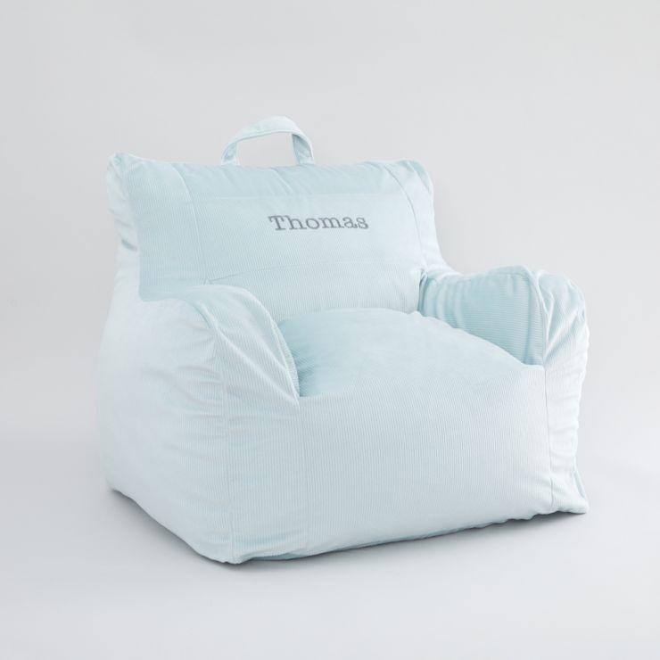 Personalized Blue Bean Bag Chair