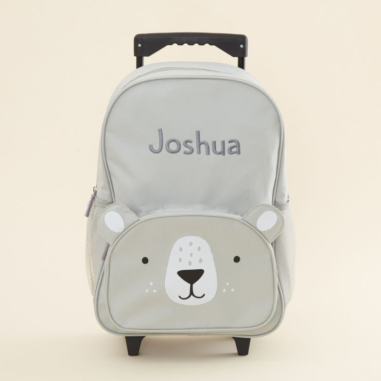 Personalized Gray Bear Children's Suitcase