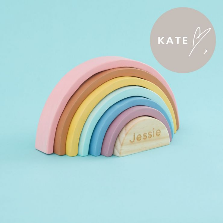 Personalised Wooden Rainbow Stacker