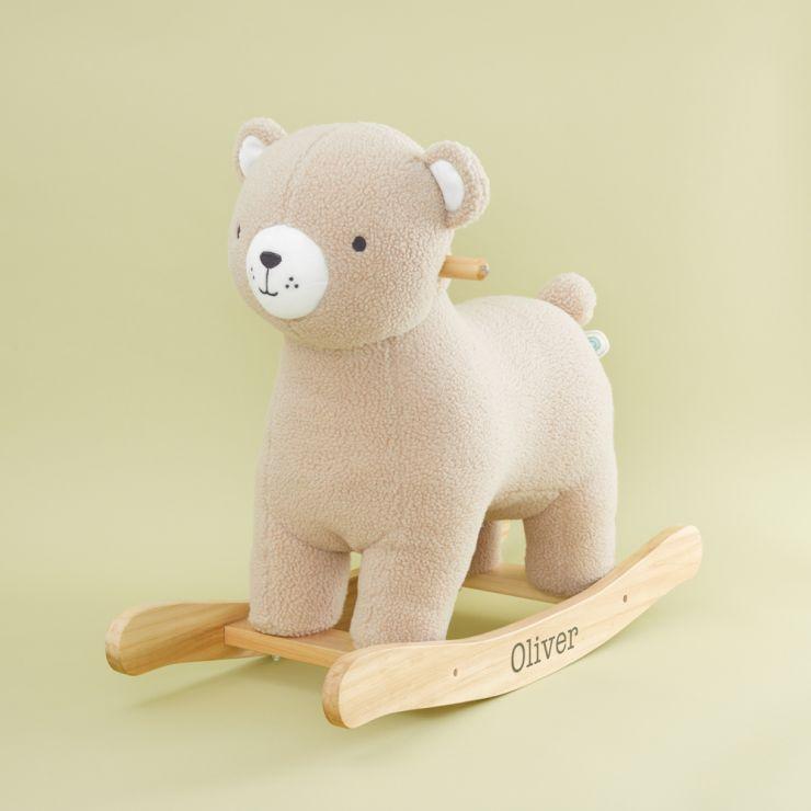 Personalised Plush Bear Rocker