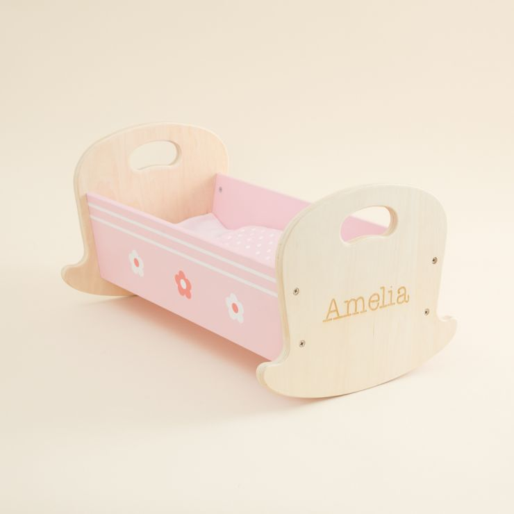 Personalized Doll's Cradle Wooden Toy