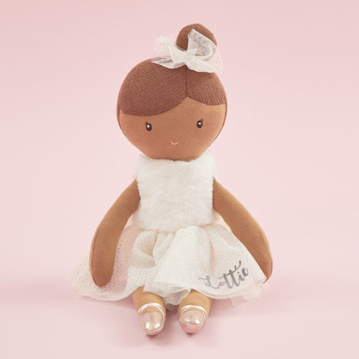 Personalized Ballerina Soft Doll with Black Hair