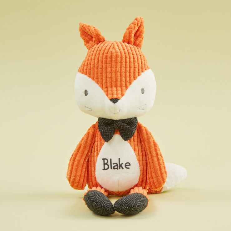 Personalized Mr Fox Textured Stuffed Animal