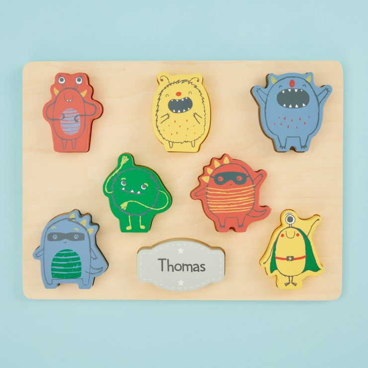 Personalized Wooden Monster Puzzle