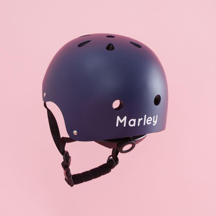 Personalised Banwood Classic Bicycle Helmet in Navy Blue Personalisation