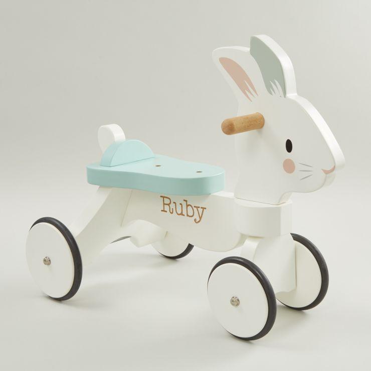 Personalised Tenderleaf Rabbit Ride On