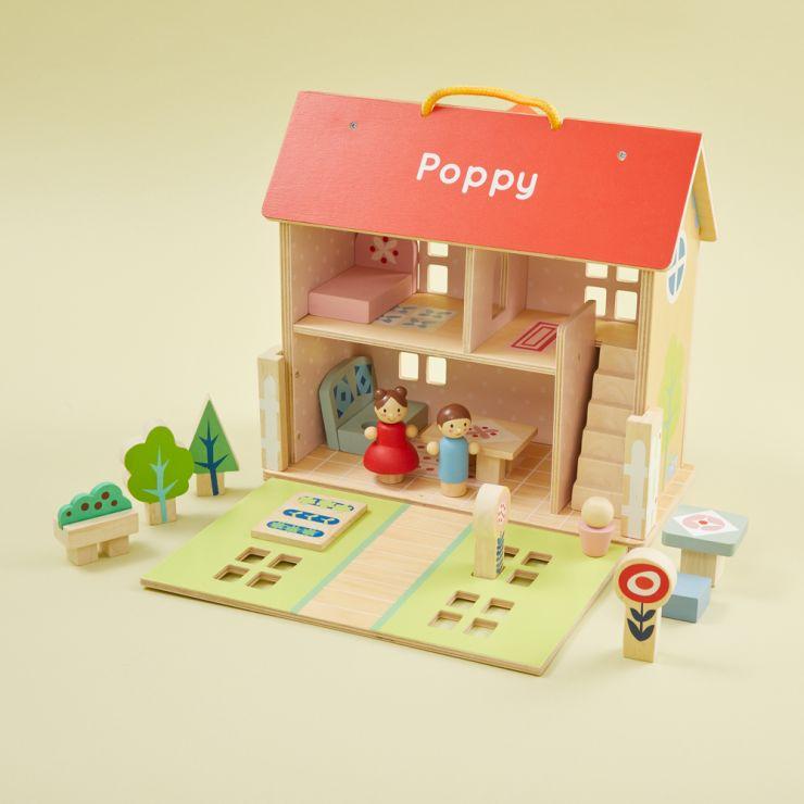 Personalised Tenderleaf Dolls House Set