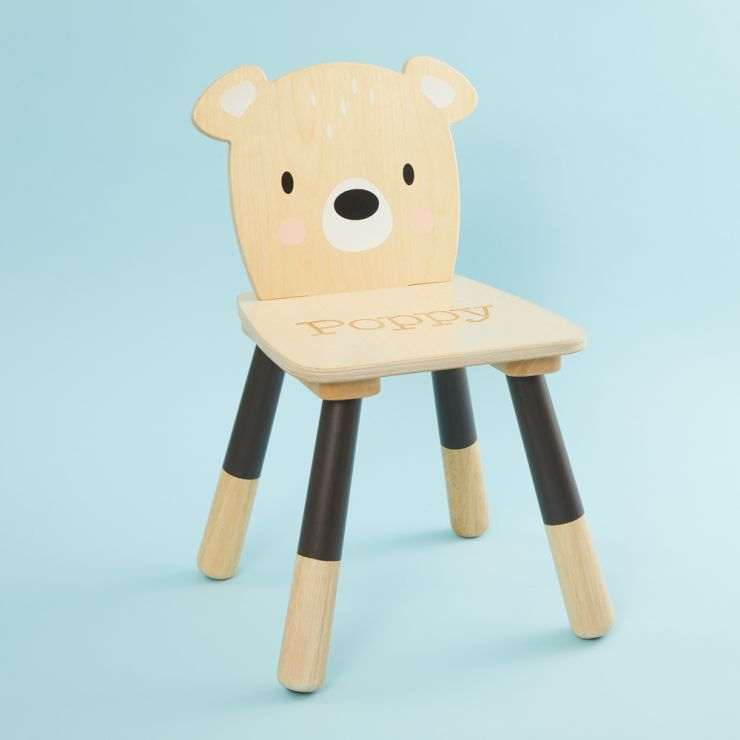 Personalised Bear Design Children's Chair