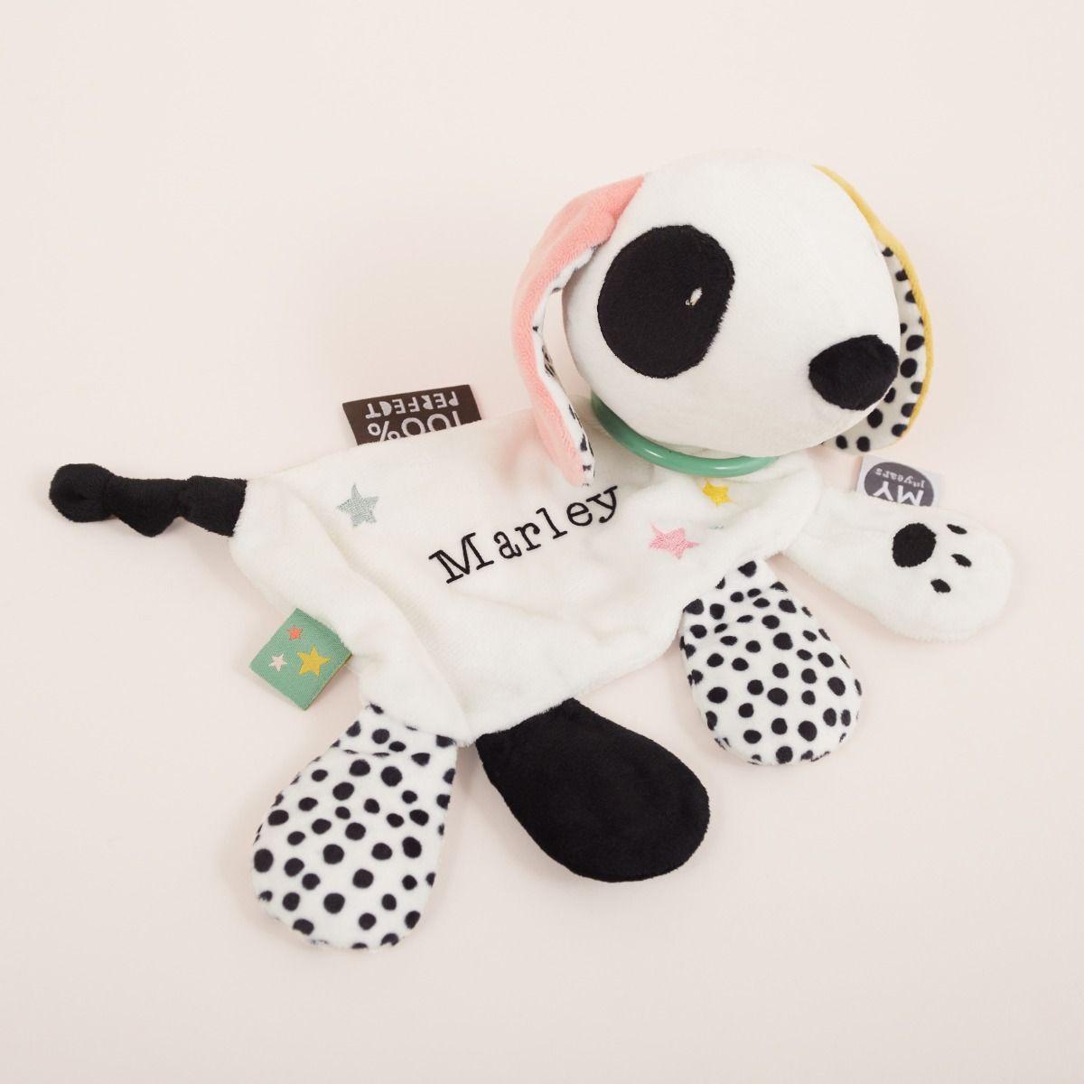 Personalised Mini Mono Patterned Dog Activity Toy