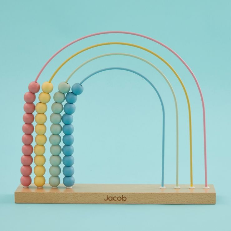 Personalised Wooden Abacus Toy