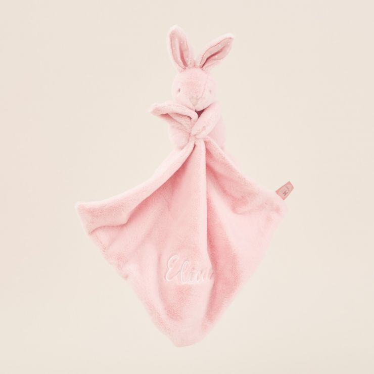 Personalized Pink Super Soft Bunny Lovey
