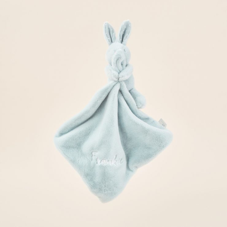 Personalised Blue Super Soft Bunny Comforter