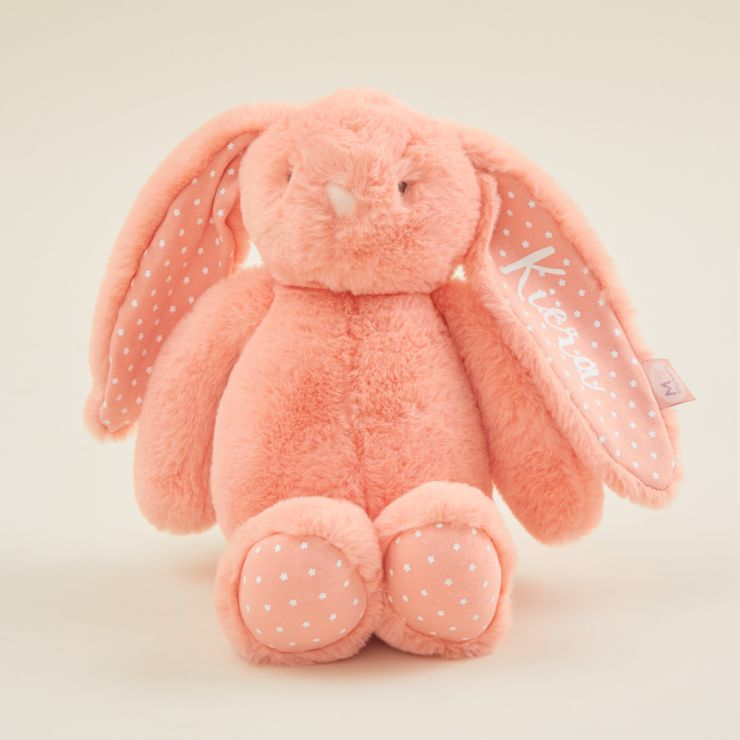 Personalized Coral Soft Bunny Toy