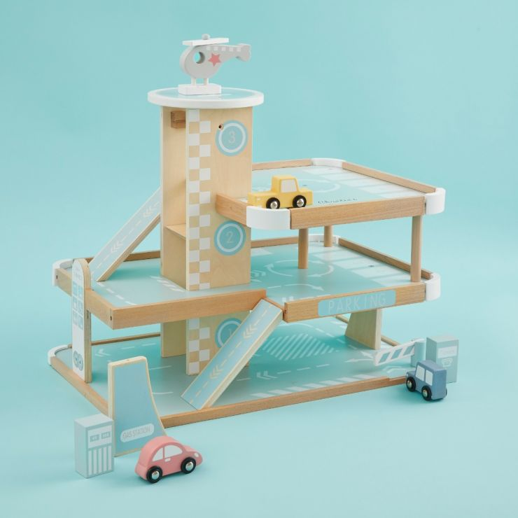 Personalised Wooden Car Garage Play Set
