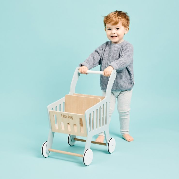 Personalised Push-Along Trolley Toy