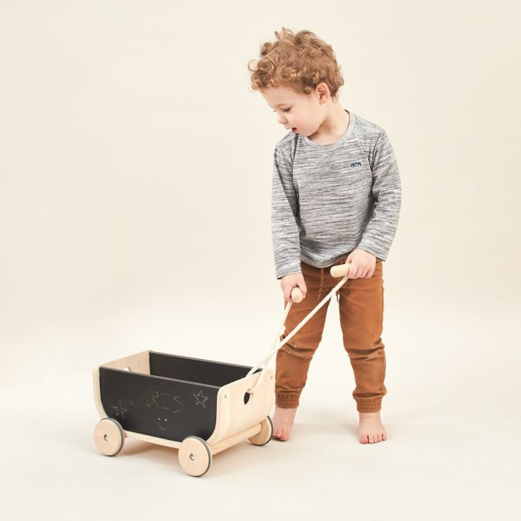 Plan Toys Pull Along Chalkboard Wagon Toy