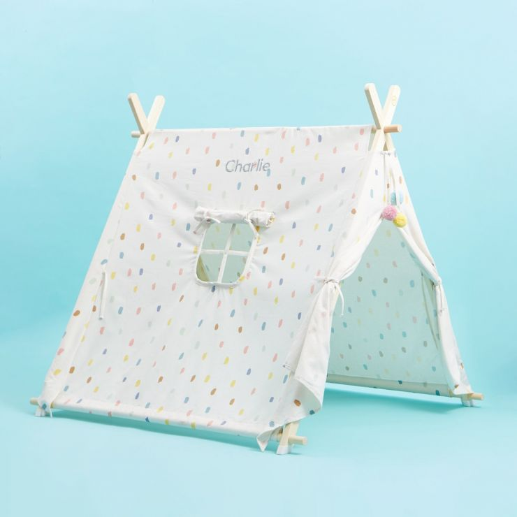 Personalised Children's Polka Dot Play Tent