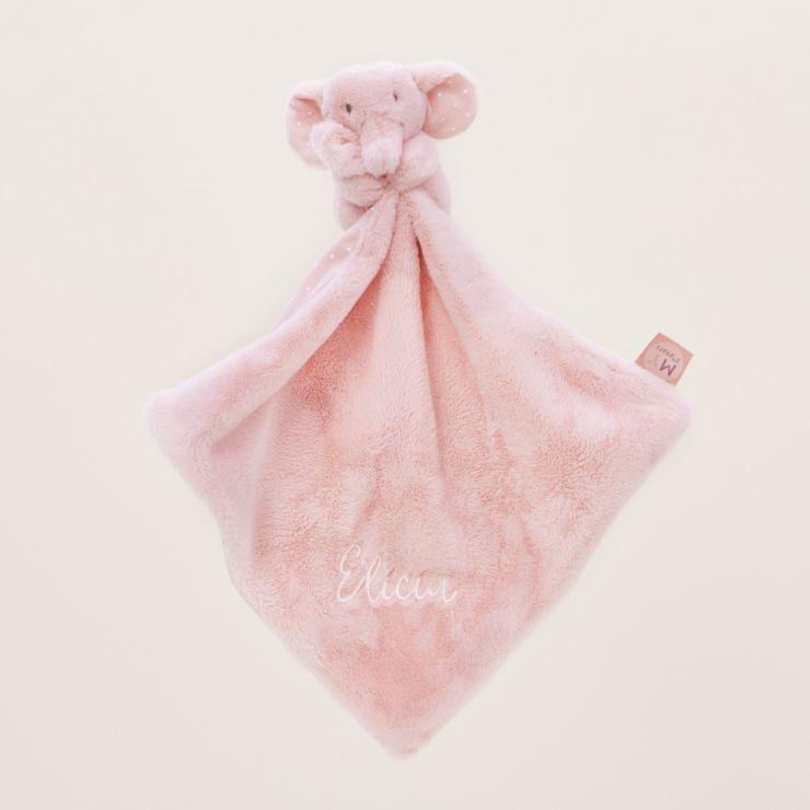 Personalised Pink Elephant Comforter